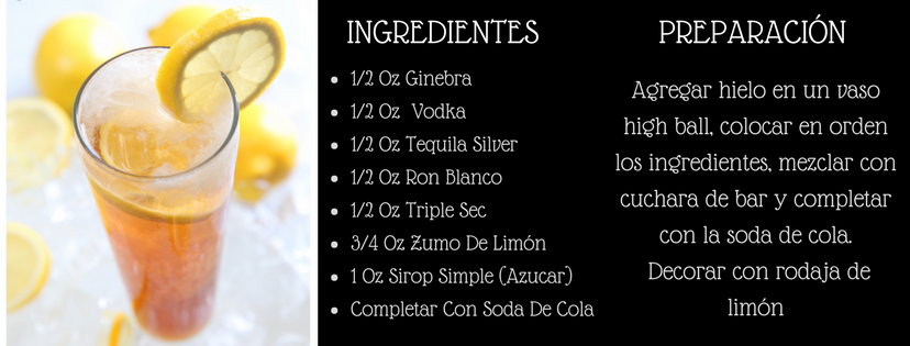 receta long island ice tea